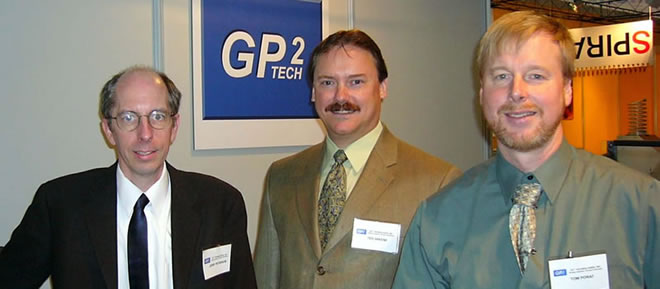 The GP2 Technologies, Inc. partners - From left: Jerry Peterson, Ted Greene and Tom Porat.